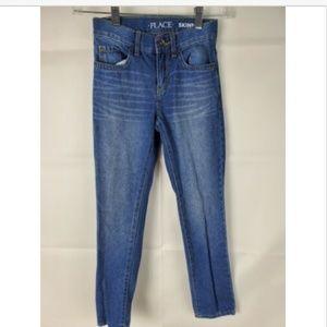Children's Place Boys Blue Jeans 8 Slim Skinny fit